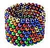 Неокуб 216 шариков 5мм в боксе Магнитные шарики Neocube цветной антистресс конструктор-головоломка никель, фото 4