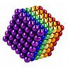 Неокуб 216 шариков 5мм в боксе Магнитные шарики Neocube цветной антистресс конструктор-головоломка никель, фото 5
