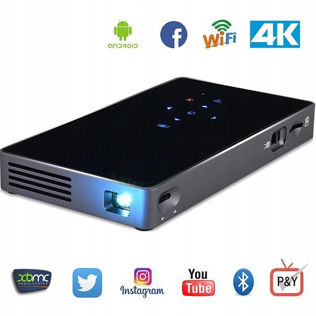 Портативний міні Led проектор P8 UTM з Wi-Fi і Bluetooth Мобільний DLP відеопроектор android з акумулятором