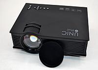 Проектор мультимедийный LCD UNIC 68 BK Wi-Fi Портативный домашний Led видеопроектор интерактивный