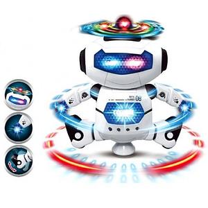 Музичний танцюючий робот Dancing Robot Інтерактивна дитяча іграшка робот танцюрист на батарейках