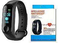 Фитнес браслет трекер Xiaomi mi band 3 Умные спортивные смарт часы для здоровья с тонометром шагомером копия