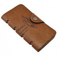 Мужское портмоне Baellerry Genuine Leather COK10. Цвет: бежевый