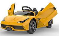 Електромобіль T-7659 EVA YELLOW легковий на Bluetooth 2.4G Р/У 2*6V4,5AH мотор 2*25W з MP3 114*70*45 /1/