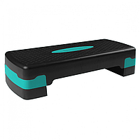 Степ-платформа для фитнеса и аэробики регулируемая 2-ступенчатая для похудения Тренажер для степа SportVida