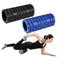 Массажный миофасциальный ролик для тела Круглый валик-массажер Роллер для фитнеса и йоги, спины 4FIZJO 33x14см