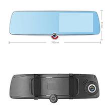 Автомобільний відеореєстратор дзеркало дисплей DVR 1030 Авто реєстратор з 3 камерами в машину Full HD 1080p, фото 3