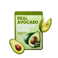 Корейская тканевая маска с экстрактом авокадо FarmStay Real Avocado Essence Mask 23 ml