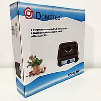 Газова плита DOMOTEC MS-6601 на 1 конфорку. Колір: коричневий