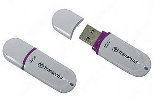 Флешка USB 2.0 Transcend JetFlash 330 16Gb White