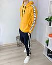 Спортивный костюм мужской черный с оранжевым худи сезон весна осень в стиле Adidas (Адидас), фото 4