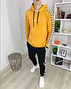 Спортивный костюм мужской черный с оранжевым худи сезон весна осень в стиле Adidas (Адидас), фото 2