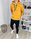 Спортивный костюм мужской черный с оранжевым худи сезон весна осень в стиле Adidas (Адидас), фото 3