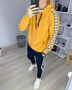Спортивный костюм мужской черный с оранжевым худи сезон весна осень в стиле Adidas (Адидас), фото 5