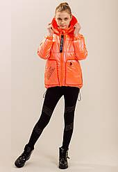 Модные детские куртки для девочек весенние сьемный рукав размер 128-146
