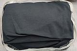Чехлы на 3-х местный диван без оборки Графит Темно серый Турция Большая палитра цветов Turkey, фото 2