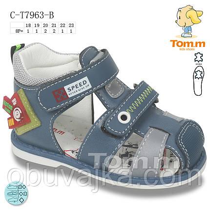 Детская летняя обувь 2021 оптом. Детские босоножки бренда Tom m для мальчиков (рр. с 18 по 23), фото 2
