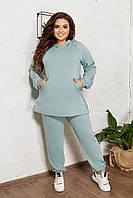 Спортивный костюм женский большого размера So StyleM трикотажный Оливковый
