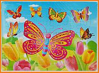 Детский пазл мозаика Бабочки| Детские пазлы от 3 лет