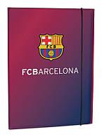 Папка для тетрадей (FC Barcelona, Kite, А4 на резинке, картон, BC14-211K)