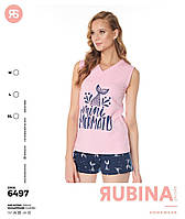 """Пижама женская """"Pink Secret"""" футболка+шортики Турция"""