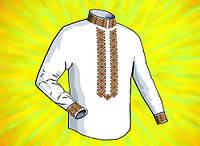 Заготовка для мужской сорочки. Размер 44-56