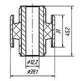 02-08 Сайлентблок поперечної тяги задньої підвіски Ford Mondeo FD, GD; 93BB5K896DA; 6973503, фото 2