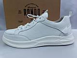 Комфортные кожаные белые туфли под кроссовки на платформе Rondo, фото 4