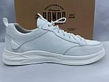 Комфортные кожаные белые туфли под кроссовки на платформе Rondo, фото 2