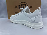 Комфортные кожаные белые туфли под кроссовки на платформе Rondo, фото 6