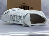 Комфортные кожаные белые туфли под кроссовки на платформе Rondo, фото 7