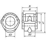 13-16 Втулка переднього стабілізатора Nissan Maxima (СА33, A33B), Infiniti I30/I35 (CA33); 546132Y003, фото 2