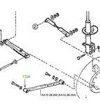 17-08 Сайлентблок поздовжньої тяги задньої підвіски 52х20х45 Mazda 626 GD; KA1028200; KA1028250, фото 3