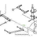 17-09 Сайлентблок продольной тяги задней подвески  50х12х41,5 Mazda 626 GD; KA1028200; KA1028250, фото 3