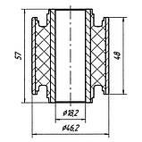17-13 Сайлентблок переднього важеля 57х18х46 Mazda 323 BA, 323F BA; BC1D3446Y; BC1D3446V, фото 2