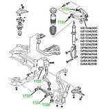 17-25 Сайлентблок нижнього кривого важеля передньої підвіски MAZDA 6 GG; GJ6A34460B; GJ6A34460A, фото 4
