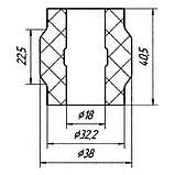 20-06 Втулка заднього стабілізатора зовнішня (ф18) Iveco Turbodaily, New Daily; 008581022, фото 2
