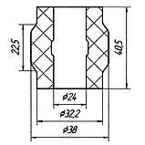 20-09 Втулка заднього стабілізатора зовнішня (ф24) Iveco Turbodaily, New Daily, Restyling; 093801623, фото 2