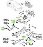 05-28 Сайлентблок нижнего рычага задней подвески внутренний Opel Vectra-C, Signum; 0423001; 0423034;, фото 3