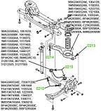 02-14 Сайлентблок заднего поперечного рычага под пружину Ford Focus; Mazda 3; 1064128; BP4K28300C, фото 3