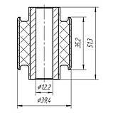 17-33 Сайлентблок поперечного заднього важеля 12x39,4x35x51 Mazda 6 GG, GY; G26A28500B; G26A28500A; GJ6A28500D, фото 2