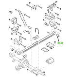 03-32 Сайлентблок задней рессоры задний Ford Transit TT9 (GCAT) 2006-; 6C165719AA, 1453842, фото 3