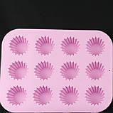 Форма для кексов, силикон 12 ячеек, фото 4