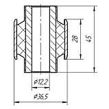 15-09 Сайлентблок поперечного прямого рычага задней подвески 12x36,5x28x45 Mitsubishi Lancer, Outlander-; MN100109; 4117A007, фото 2