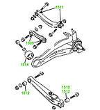 15-09 Сайлентблок поперечного прямого рычага задней подвески 12x36,5x28x45 Mitsubishi Lancer, Outlander-; MN100109; 4117A007, фото 3