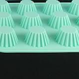 Форма для кексов, силикон 12 ячеек, фото 3