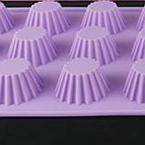 Форма для кексов, силикон 12 ячеек, фото 5