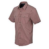 Рубашка с коротким рукавом Helikon-Tex® Covert Concealed Carry Short Sleeve Shirt - Dirt Red Checkered 2XL