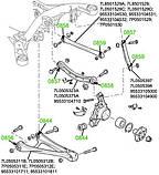 08-59 Сайлентблок заднього поперечного важеля Volkswagen Touareg; Audi Q7; Porsche Caenne; 7L8501529;, фото 3