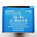 UL-V+ (перламутровый +) Осветляющая стойкая крем-краска для волос Matrix Socolor.beauty Ultra Blonde,90ml, фото 2